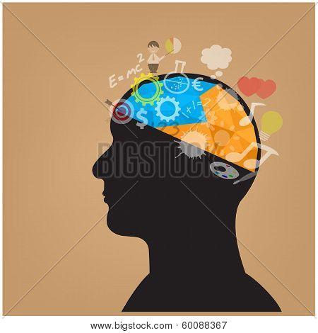 Creative Head Symbol