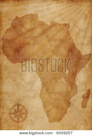 Old Africa Map Illustration