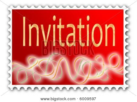 Invitation with gold leaf effect
