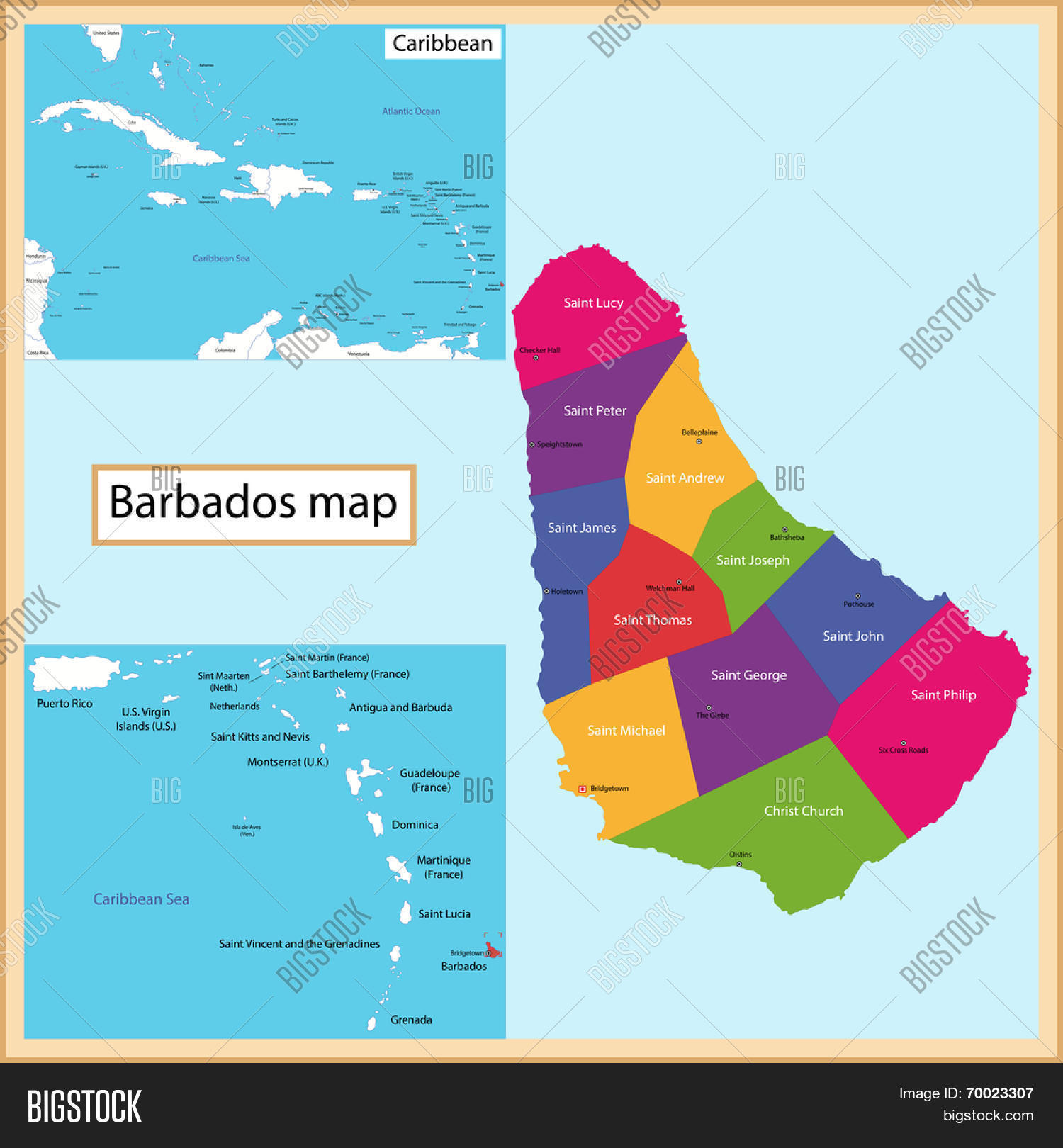 Map Barbados Drawn High Detail Vector Photo Bigstock