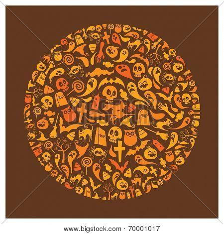 Halloween icons - Circle