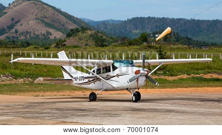 Airplane In Busuanga Airport In Island Coron, Philippines