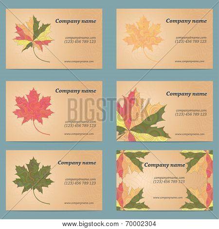 Maple leaf business card set