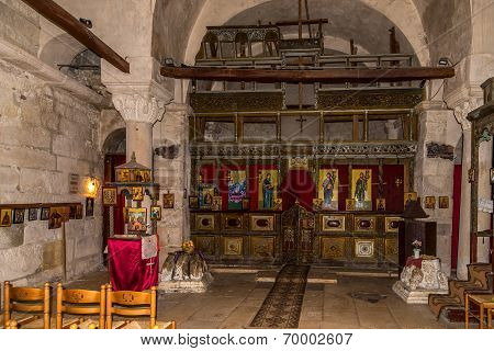 Inside The Church Of Saint Mary In Apollonia.