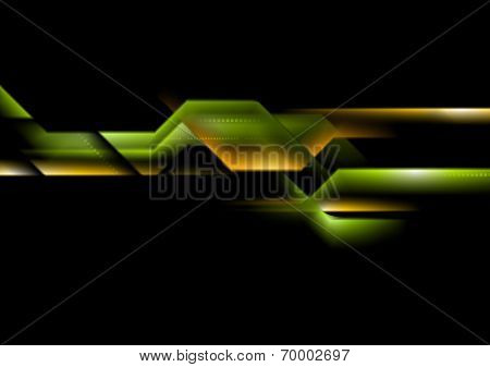 Abstract technology striped background. Vector design