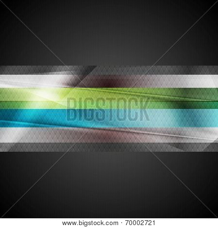 Abstract stripes technology vector background