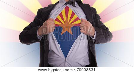 Businessman With Arizona Flag T-shirt