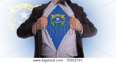 Businessman With Nevada Flag T-shirt
