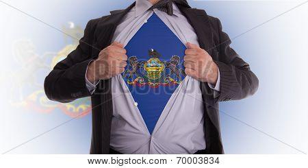 Businessman With Pennsylvania Flag T-shirt