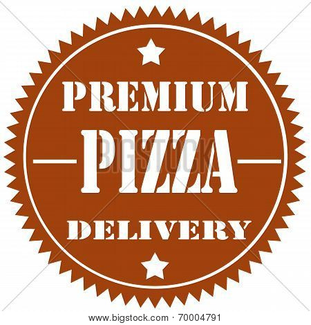 Abstract label with text Pizza, vector illustration poster