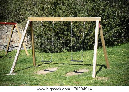 Wooden swing/