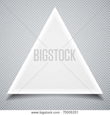 Triangle paper frame. Business Template
