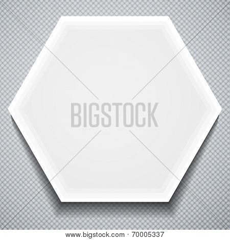 Honeycomb paper frame. Business Template