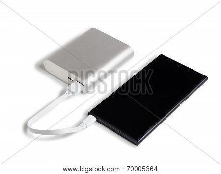 smartphone is charging