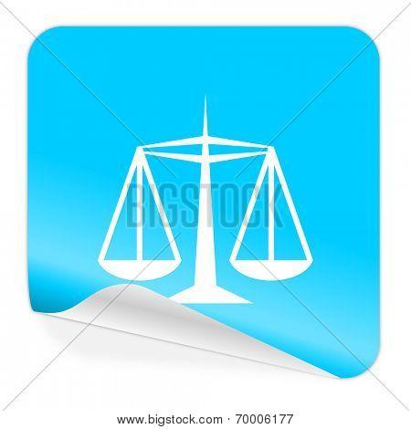justice blue sticker icon