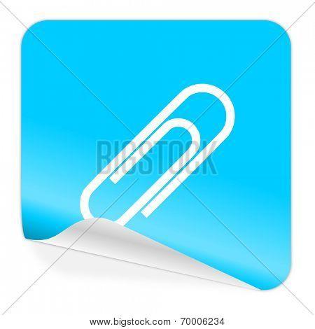 paperclip blue sticker icon