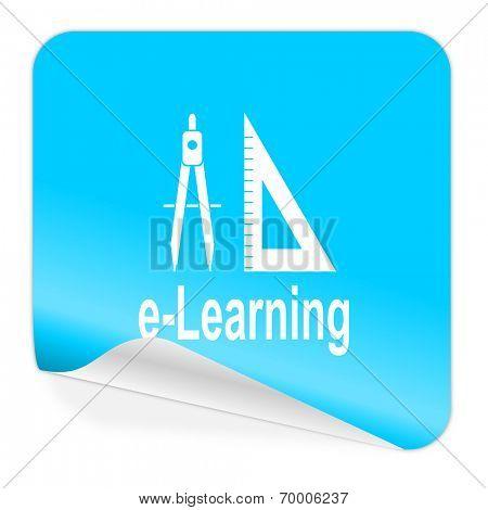 larning blue sticker icon