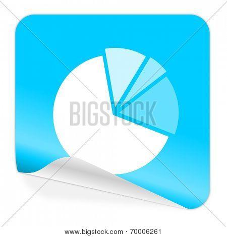 diagram blue sticker icon