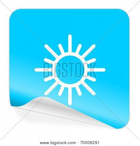 sun blue sticker icon