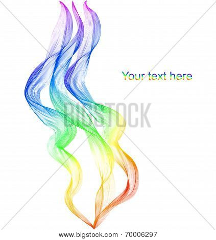 Abstract Winding Ribbon Of The Rainbow