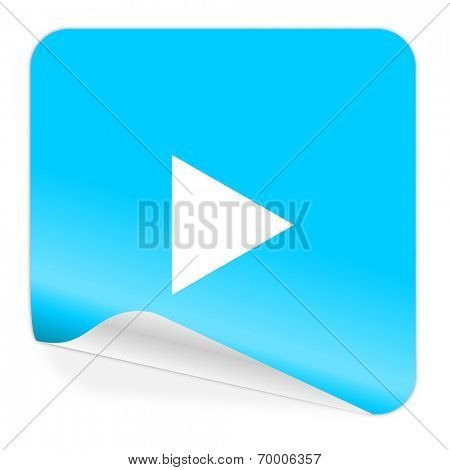 play blue sticker icon
