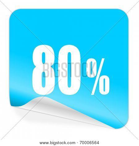 80 percent blue sticker icon