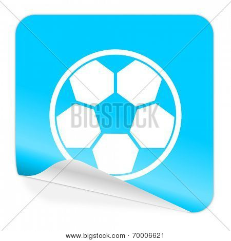 soccer blue sticker icon