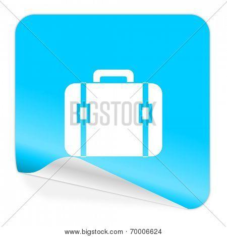 bag blue sticker icon