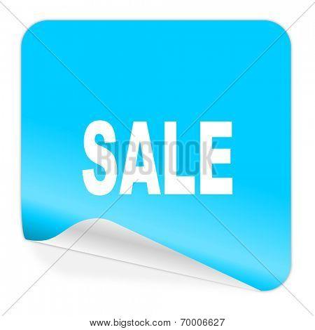 sale blue sticker icon