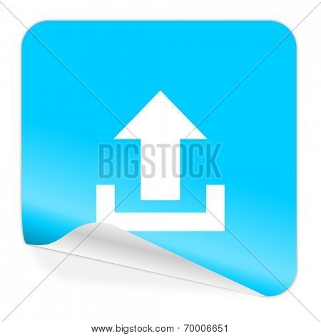 upload blue sticker icon