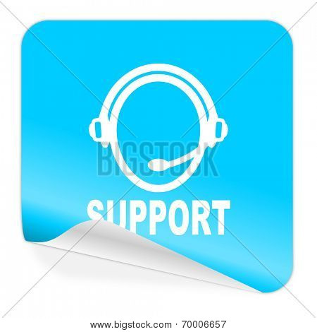 support blue sticker icon