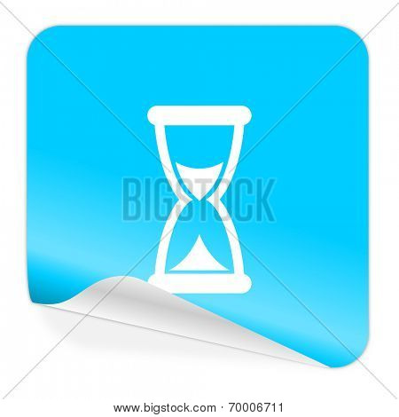 time blue sticker icon