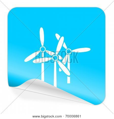 windmill blue sticker icon