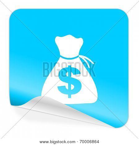 money blue sticker icon