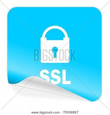 ssl blue sticker icon