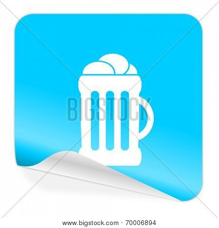 beer blue sticker icon