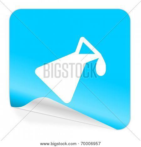 chemistry blue sticker icon
