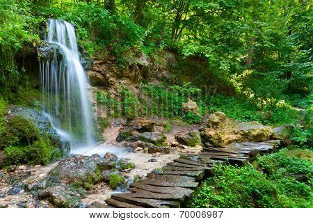 Waterfall in the wood