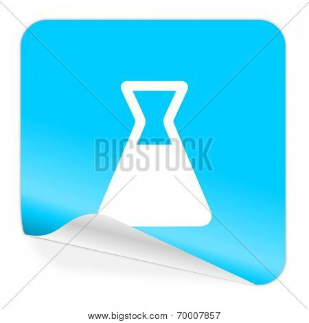 laboratory blue sticker icon