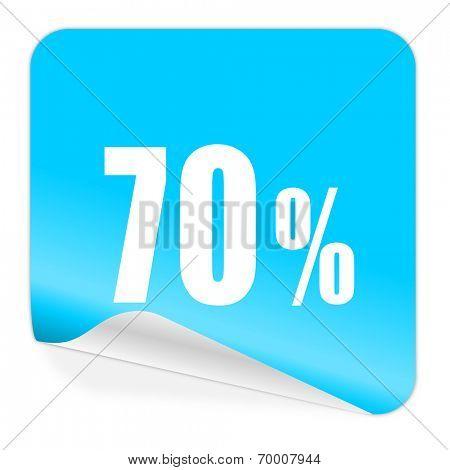 70 percent blue sticker icon