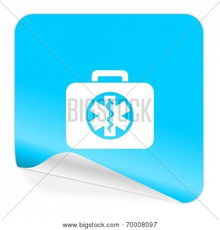 rescue kit blue sticker icon