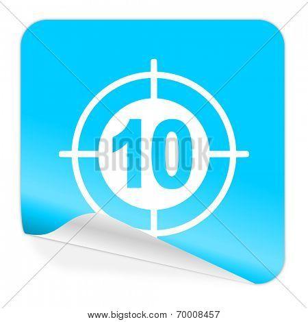 target blue sticker icon