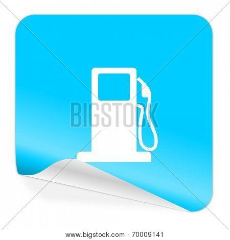 petrol blue sticker icon