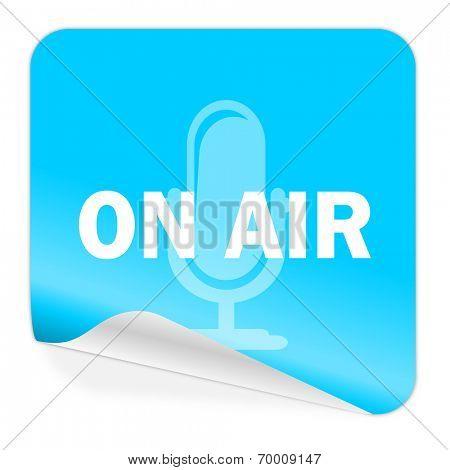 on air blue sticker icon