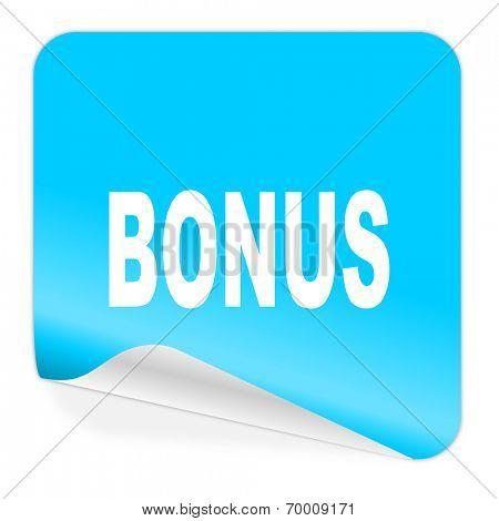 bonus blue sticker icon