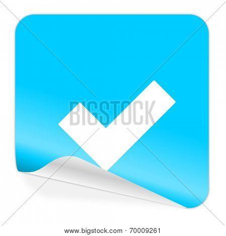 accept blue sticker icon