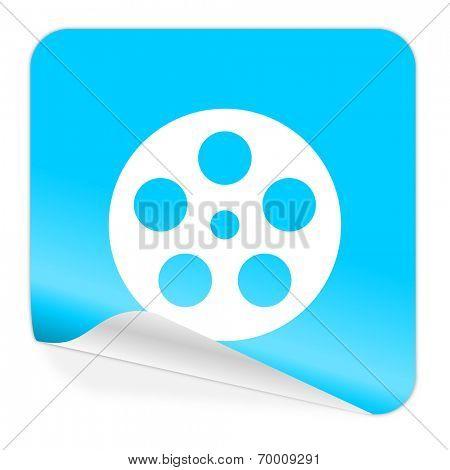 film blue sticker icon