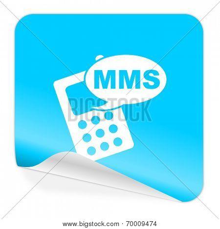 mms blue sticker icon