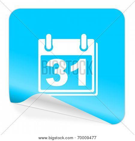 calendar blue sticker icon