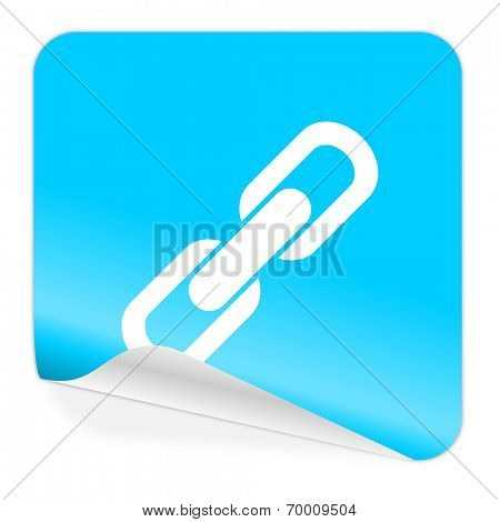 link blue sticker icon
